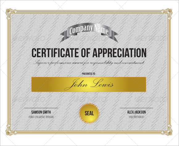 21 Certificate of Appreciation Templates \u2013 Free Samples, Examples - certificate of appreciation template for word