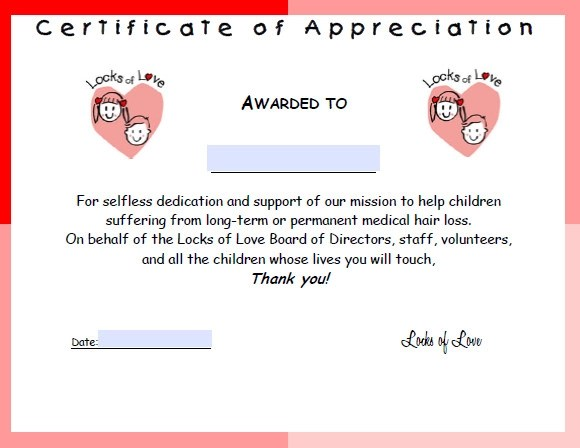 31+ Certificate of Appreciation Templates \u2013 Sample Word, AI, PSD Format