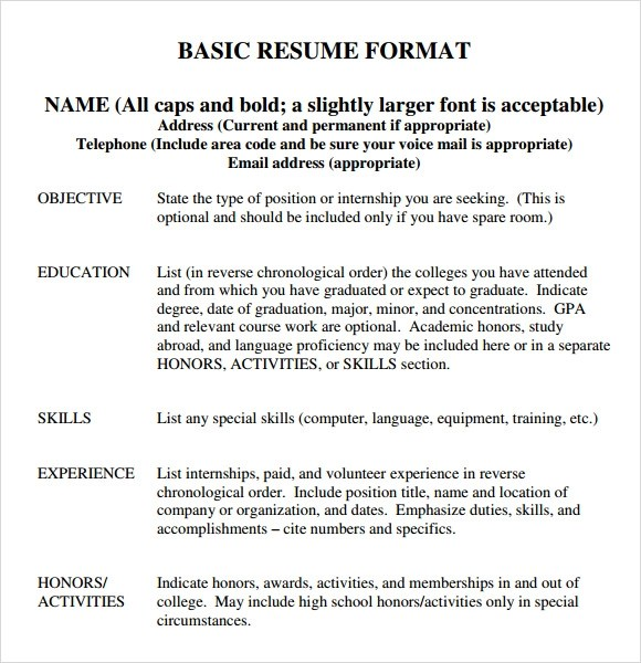 Resume college major and minor
