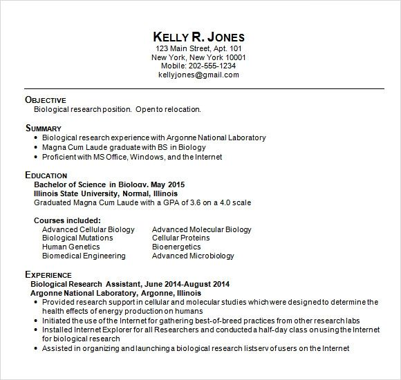resume templates free for college students