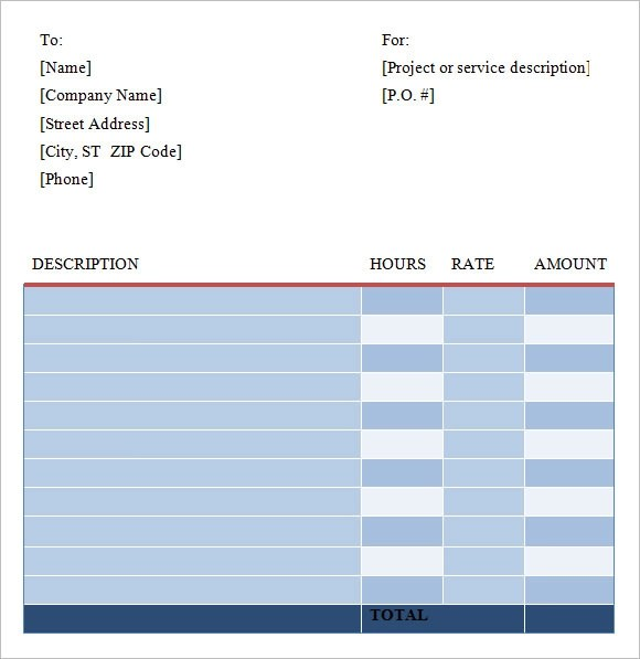 8 Freelance Invoice Templates \u2013 Free Samples, Examples  Format - it invoice template