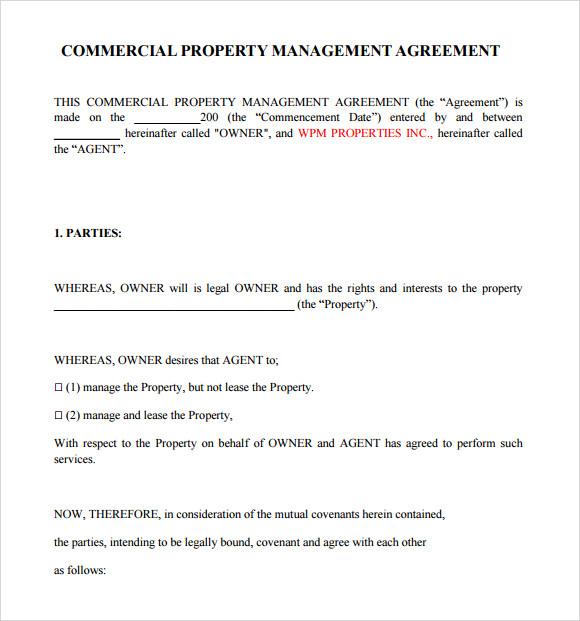 Rental Management Agreement Template – Rental Management Template