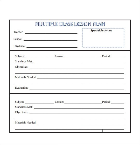 10+ Sample Lesson Plans Sample Templates - sample weekly lesson plan