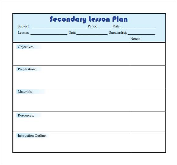 10+ Sample Lesson Plans Sample Templates - easy lesson plan template