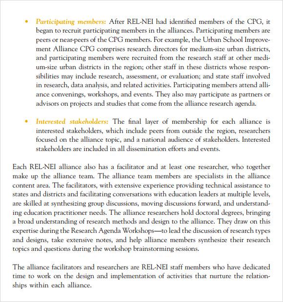 Research Agenda Template | oakandale.co
