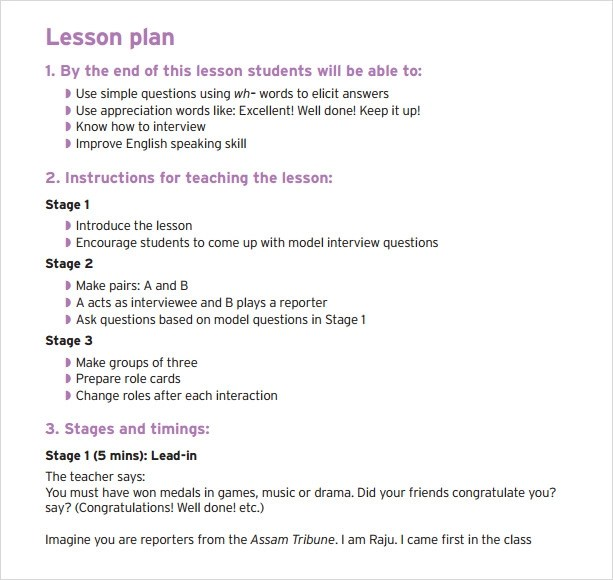 sample simple lesson plan template hitecauto - sample music lesson plan template