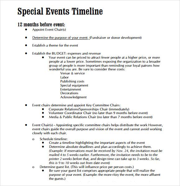 Budget Timeline Template todaysclix