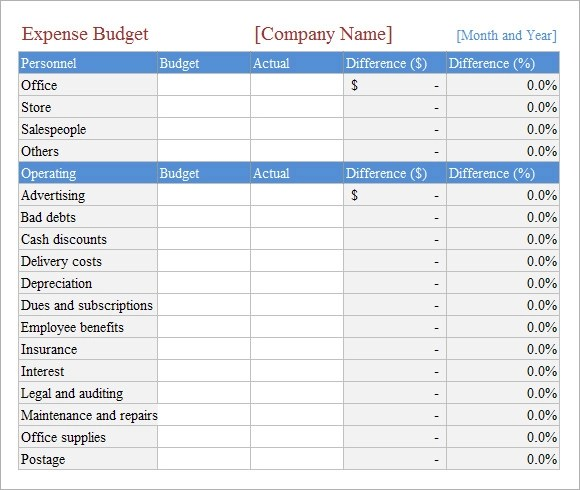 9 Budget Spreadsheet Templates \u2013 Free Samples, Examples  Format - Sample Budget Sheet