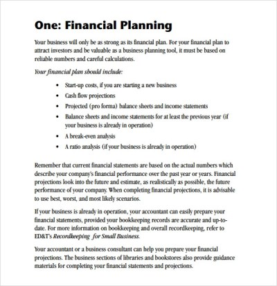 Sample Financial Business Plan - 8+ Documents in PDF, Word, Google Docs,