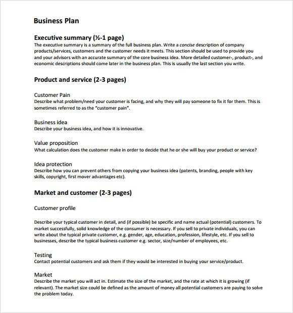 Business Plan Template Free aplg-planetariumsorg