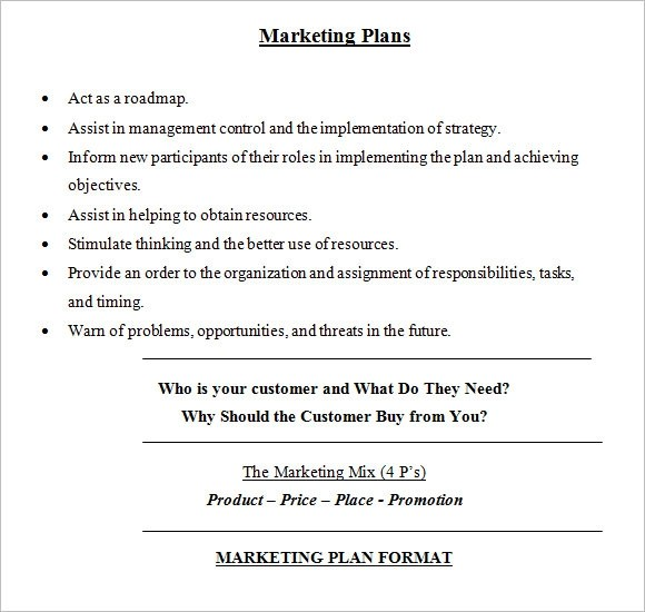 8+ Sample Marketing Plans Sample Templates - marketing plan template