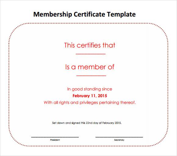 Life Membership Certificate Template  NodeCvresume