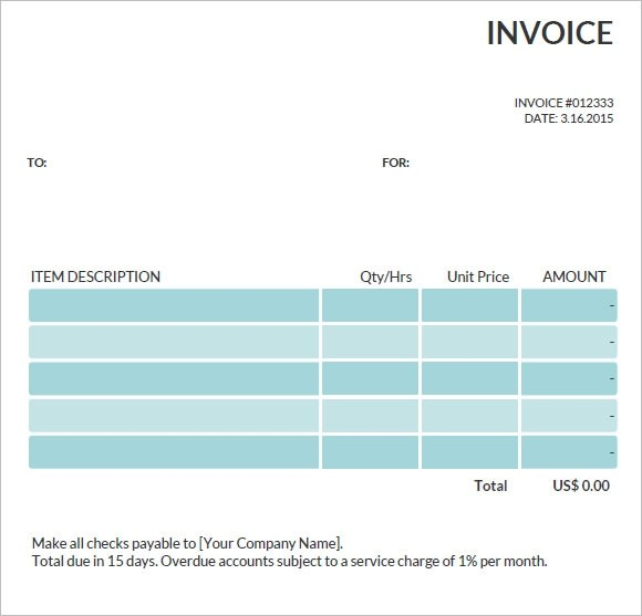 Commercial Invoice Template \u2013 10+ Free Word, PDF Format