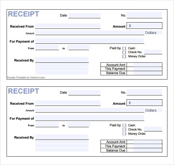 10+ General Receipt Templates \u2013 Free Samples , Examples  Format