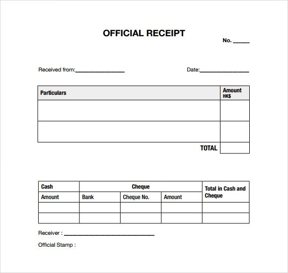 10+ General Receipt Templates \u2013 Free Samples , Examples  Format - format receipt