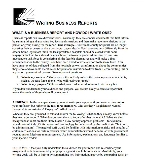 Sample Business Report - 11+ Documents in PDF, PSD - company report template