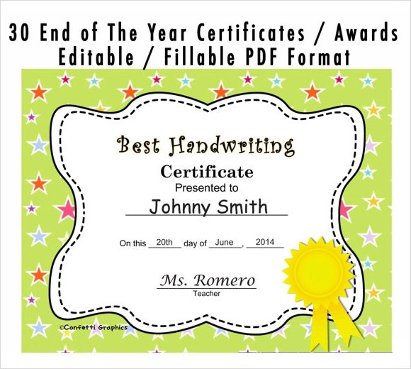 Sample Certificates For Kids  NodeCvresumePaasproviderCom