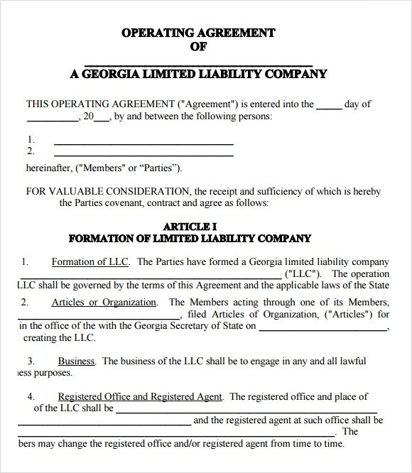 LLC Operating Agreement - 8+ Download Free Documents in PDF , Word - business operating agreement