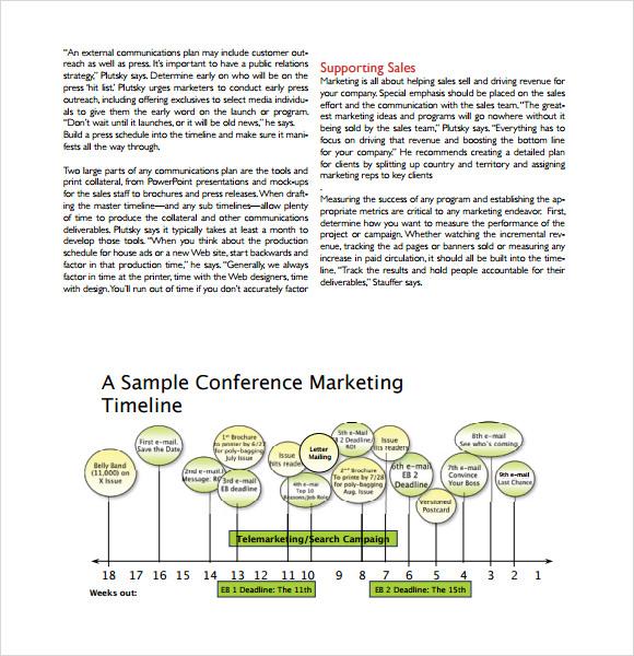 7+ Marketing Timeline Templates \u2013 Free Samples, Examples  Formats - Marketing Timeline Template
