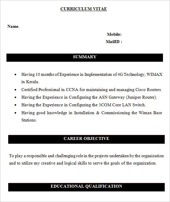 9 Network Engineer Resume Templates \u2013 Free Samples , Examples