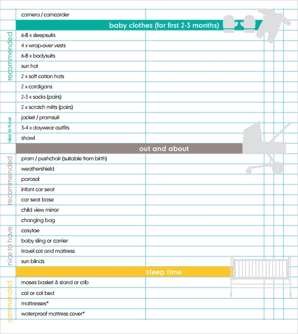 Newborn Baby Seat In Car Free 9 Newborn Checklist Templates In Google Docs Ms