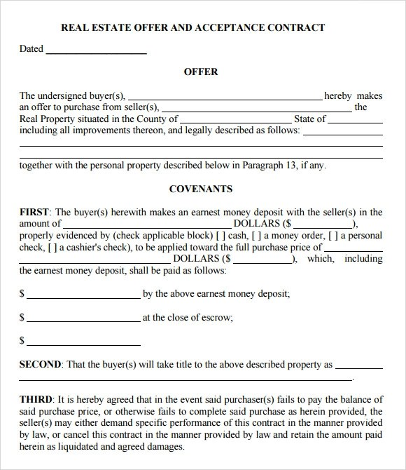Real Estate Purchase Agreement Form Pdf | Create Professional
