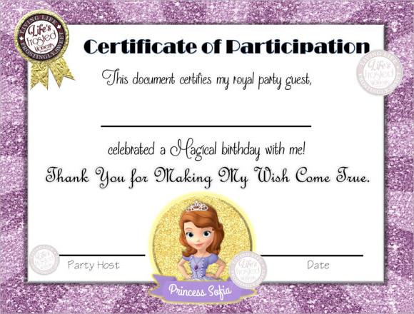 participation certificate templates for kids trattorialeondoro - certificate of participation format