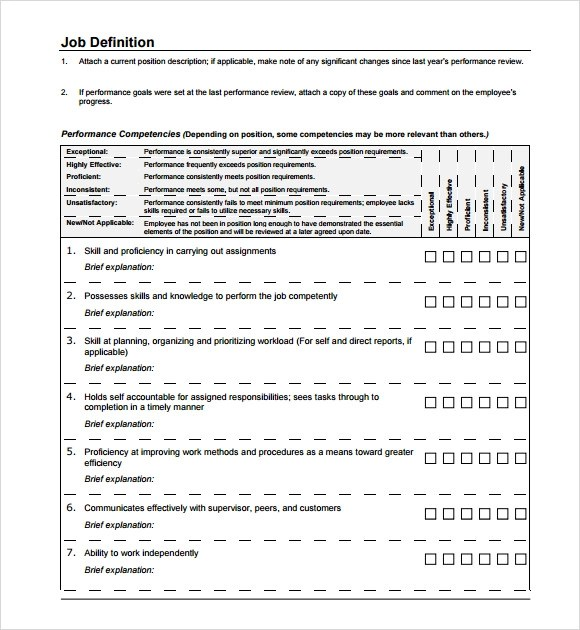 Employee Evaluation Forms Samples  Sample Resume For Assistant