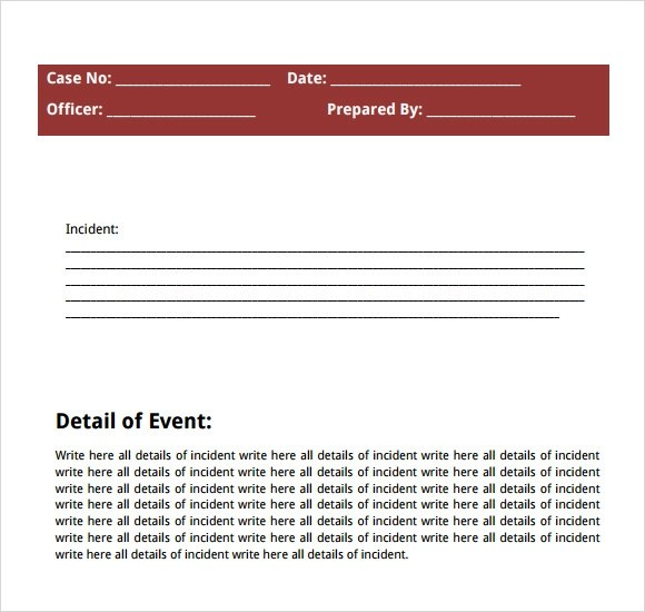 Sample Police Report - 7+ Documents in Word, PDF - police report format