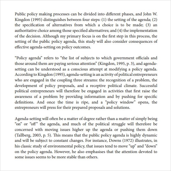 Superb Sample Political Agenda   6+ Example, Format   Sample Political Agenda