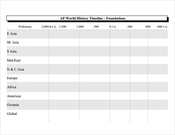 Historical Timeline Template - 16+ Free Samples, Examples, Format - simple timeline template