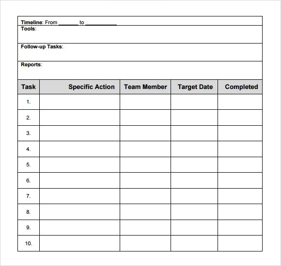sample action plan - deodeatts - example of action plan template