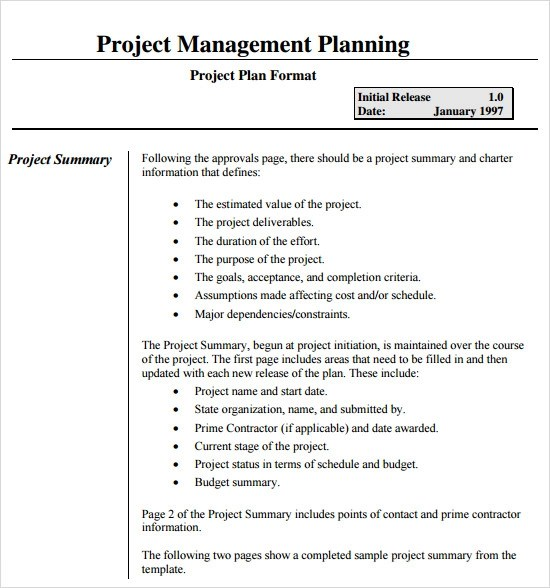 15+ Sample Project Plans Sample Templates