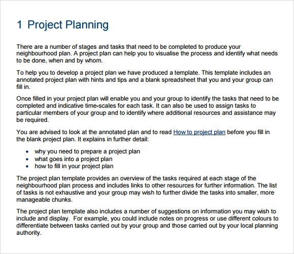 Project Planning Template - 9+ Free Samples , Examples , Format - project plan example