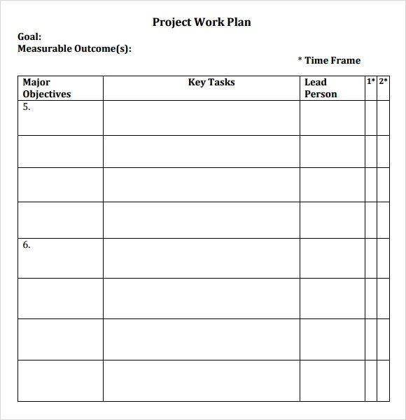12+ Sample Work Plans Sample Templates