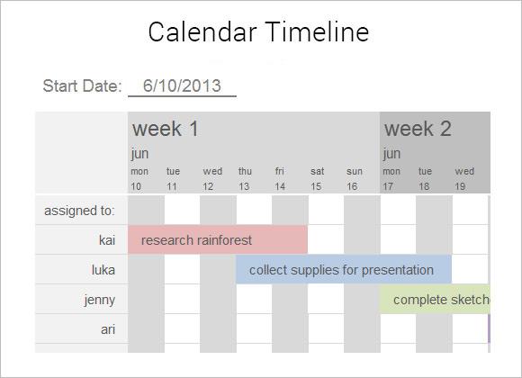 9 Calendar Timeline Templates \u2013 Free Samples , Examples  Format