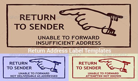 9+ Return Address Label Templates - Samples , Examples , Format