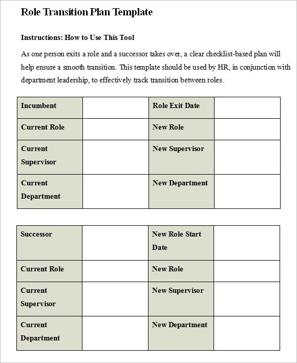 Transition Plan Template u2013 8+ Free Samples , Examples , Format - transition plan template