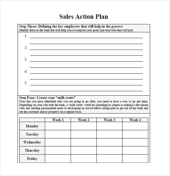 Sample Sales Plan - 9+ Example, Format - marketing action plan template
