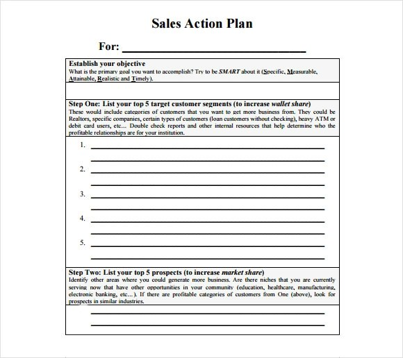 Sales action plan pdf, marketing a new business on facebook - action plan in pdf