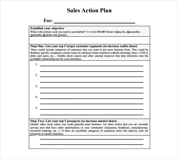sales action plan sample