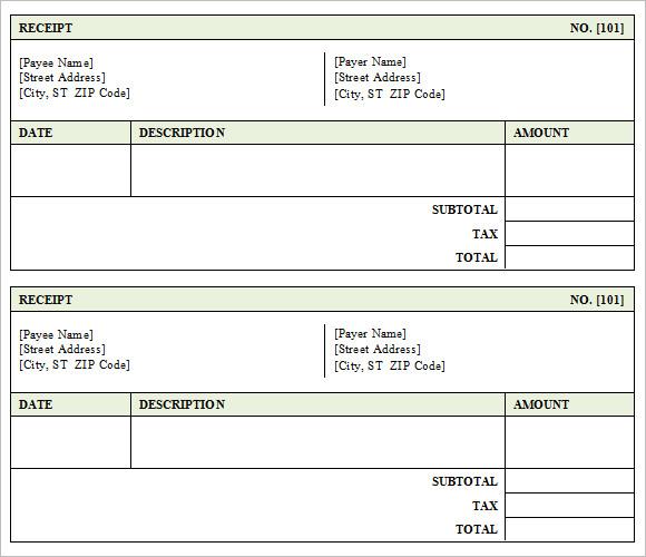 9 Sales Receipt Templates \u2013 Free Samples, Examples  Format Sample