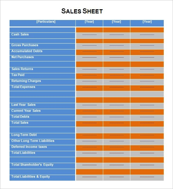 Sales Sheet Template - 8+ Samples, Examples , Format - sample sell sheet