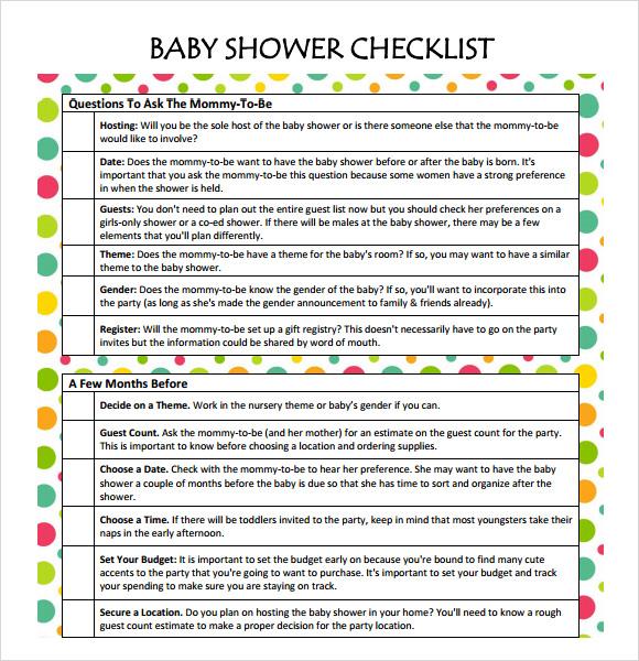 Baby Shower Checklists Baby Shower Bingo Printable, Mountains - sample baby shower checklist
