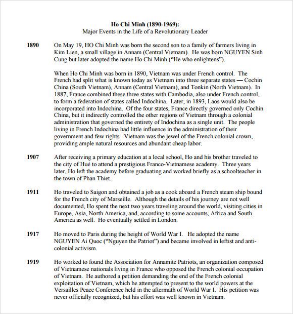 Sample Teacher Biography Template Business Timeline Templates
