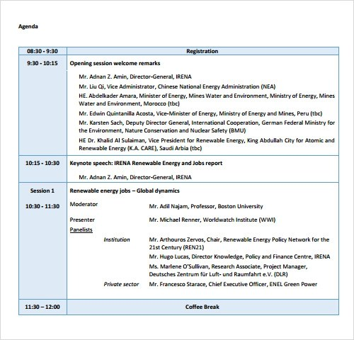 12+ Sample Agenda Templates - Free Samples , Examples , Format