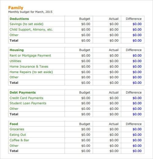 Family Budget Template Free Family Budget Planner Best 25+ Budget - sample budget planner
