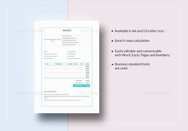 Doc#912828 Plumbing Receipt u2013 Free Plumbing Invoice Template - plumbing receipt template