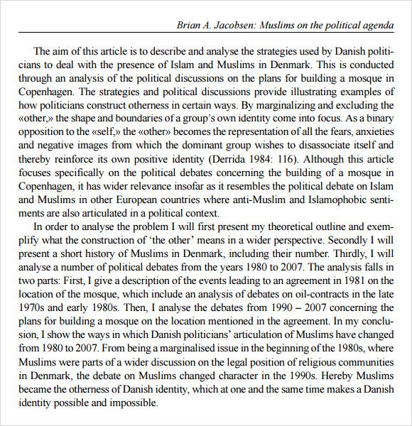 Sample Political Agenda Example Format Political Agenda Template