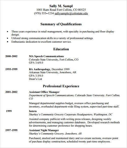 hls resume examples